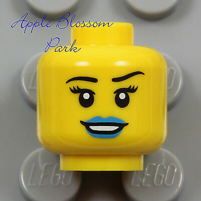 New LEGO Female//Male Minifig HEAD Smile Pirate Police Agent City Castle Princess