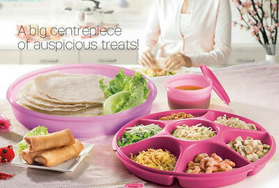 Tupperware Allegra Large Serving Centre (1) Round NEW PINK, Free Shipping
