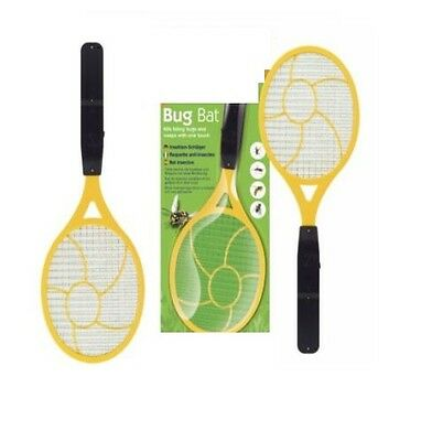 Electric Bug Zapper Bat Bugs Wasp Mosquito Insect Killer Swatter Racket Bat New