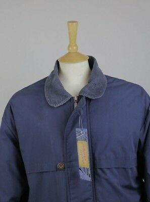 Marks & Spencer Mens Jacket Coat Medium Country Car Classic Quilted Blue Walking