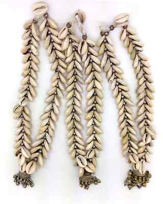 3 Banjara Tribal Shell Necklaces Unique Tassel Cowries Ethnic Indian Jewelry