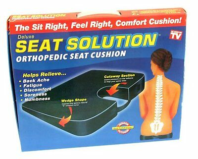 NEW! Orthopedic Seat Cushion Back Support Chair Solution Coccyx Pain Ache Relief