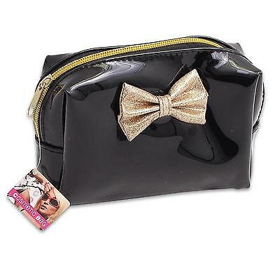 """Cosmetic Bag 6.25""""l Gold Bow"""