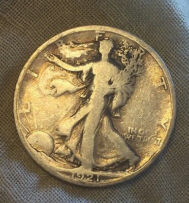 1921 S Walking Liberty Silver Half Dollar, Key Date Coin! Low Mintage