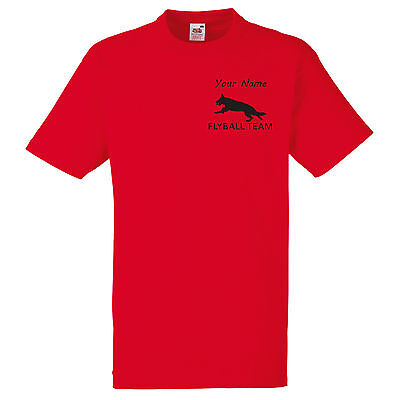 10 Flyball Personalised Dog Agility Team T Shirt Fly Ball Group Uniform Outfit