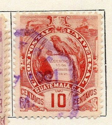 Guatemala 1886-94 Early Issue Fine Used 10c. 087555