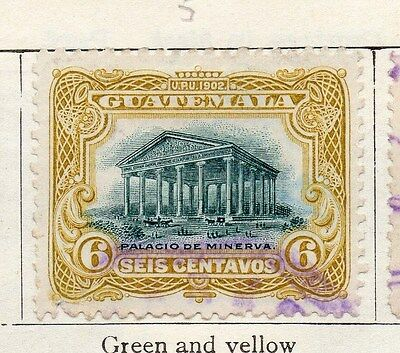 Guatemala 1902 Early Issue Fine Used 6c. 087567