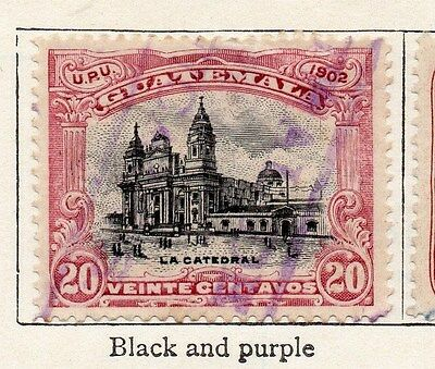 Guatemala 1902 Early Issue Fine Used 20c. 087571