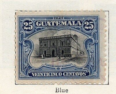 Guatemala 1911 Early Issue Fine Used 25c. 087582