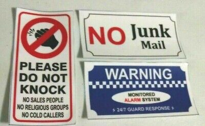 no junk mail sticker and do not knock sticker waterproof