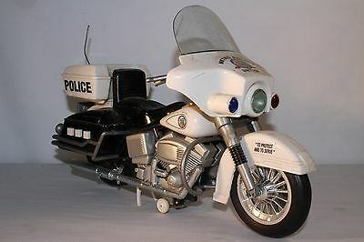 Large Battery Operated Police Motorcycle