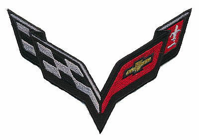 Corvette Racing  Embroidered 5 Inch Race Car  Patch
