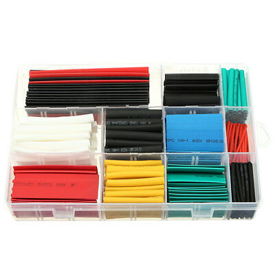 300Pcs 2:1 Heat Shrink Tubing Tube Sleeving Wire Cable 11 Sizes 6 Color