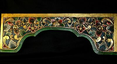 Balinese Door Lintel Arch Panel wall art Architectural hand Carved Wood Bali Art