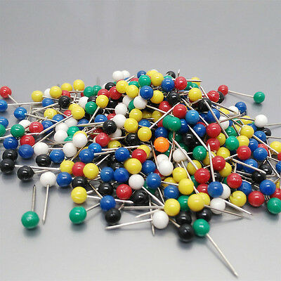 100PCS New Office Map Indicator Push Drawing Pin Desk Board Accessories Need Q96