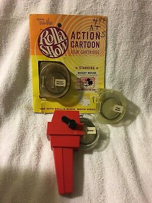 Roll-a Show Action film, movie viewer, view master,Mickey, Bambi, yogi
