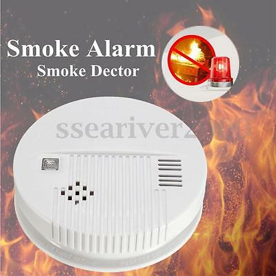 LED Home Security Fire Tester Poisoning Smoke Gas Sensor Alarm Warning Detector