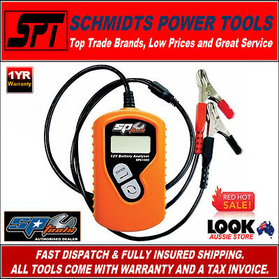 Sp Tools Sp61060 Mechanics 12 Volt Car Battery Analyser 12V Automotive Tester