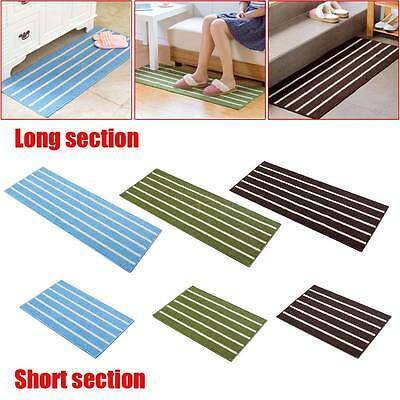 Absorbent Non-slip Striped Floor Shower Mat Rug Non-slip Bath Bathroom Kitchen