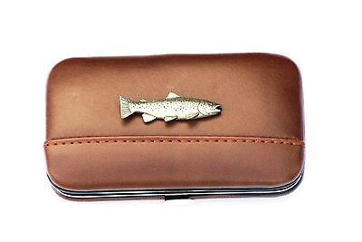Brillen Kleding en accessoires Brown Trout Fishing Glasses Spectacle Case  Shooting Gift FREE ENGRAVING POSTAGE