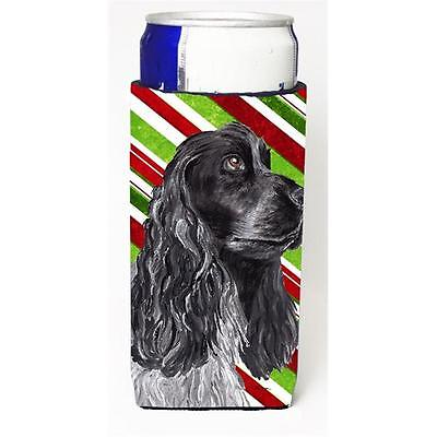 Cocker Spaniel Candy Cane Christmas Michelob Ultra bottle sleeves For Slim Ca...