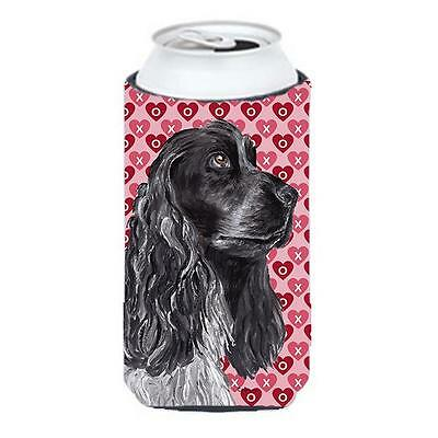 Cocker Spaniel Valentines Love Tall Boy bottle sleeve Hugger 22 to 24 oz.