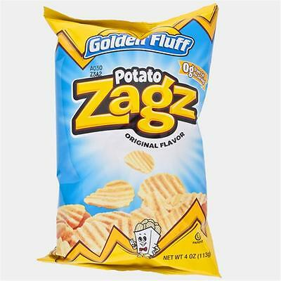 Golden Fluff 14051 Large Regular Potato Zags, Case of 12 x 4 oz