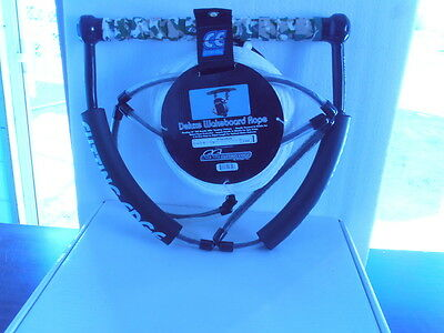 Cutting Edge Deluxe Wakeboard Rope & 15'' EVA Handle 3 Section with launch handl