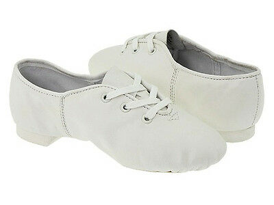 White leather split sole jazz shoes  - all sizes