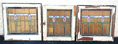 Stained Glass Windows Leaded Glass Windows Antique Vintage Old Art Deco English