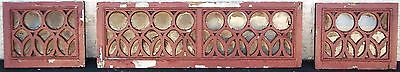 Transom Windows Wood Folk Art Antique Vintage Old Large Art Deco Crafts Rare