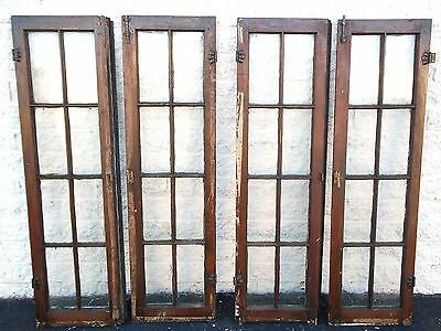 Transom Windows Glass Wood Antique Vintage Old Large Art Deco Glass Wood Crafts
