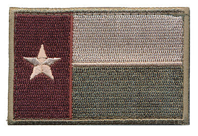 Texas Tx State Flag Tactical Morale Army Lone Star Hook Patch (Mtf4)