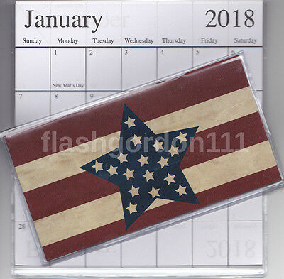 1  2017-2018 STAR FLAG 2 Two Year Planner Monthly Pocket Purse Calendar Datebook