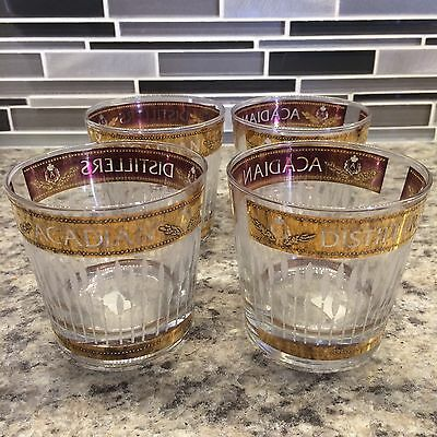 Acadian Distillery Limited Edition Whiskey Glasses Set Of 4 Very Rare - stunning