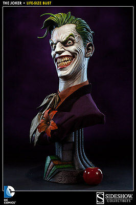 Sideshow Collectibles DC Comics THE JOKER 1:1 LIFE SIZE BUST Scale Batman NEW