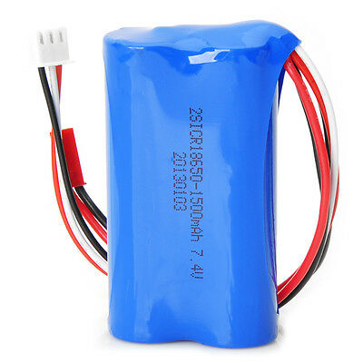 New 7.4V 1500mAH Battery FOR T-23 T623 848 RC Helicopter Spare Parts Blue