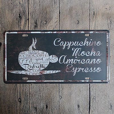Metal Tin car plate coffee Decor Bar Pub Home Vintage Retro Poster Cafe ART