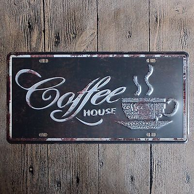 Metal Tin car plate coffee house Decor Bar Pub Home Vintage Retro Poster Cafe