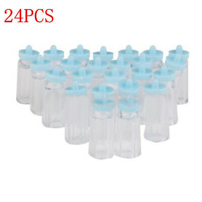 24PCS Lots Mini Bottles Girl/Boy Baby Shower Party Favours Table Decoration Gift
