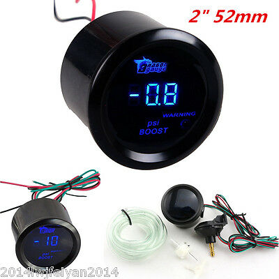 "2"" 52mm Universal Autos Turbo Boost Gauge LED Digital PSI Vacuum Pressure Meter"