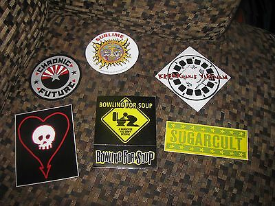 6 Rock Band Stickers Chronic Future Sublime Bowling For Soup Sugarcult + 2 More