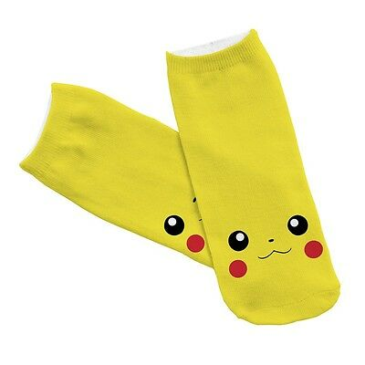 Anime Pokemon Pikachu Yellow Cute Cartoon Pocket Monster Unisex Socks Cute New