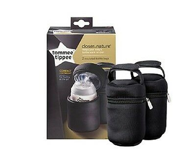 Tommee Tippee 43129371 Closer to Nature Insulated Bottle Portatori -Pack di 2
