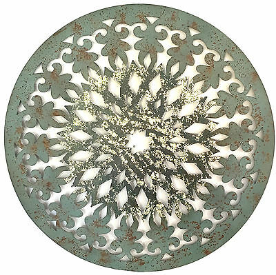 Abstract Metal Wall Art Hanging Modern Sculpture Shabby Ornate Gold 81cm 3652