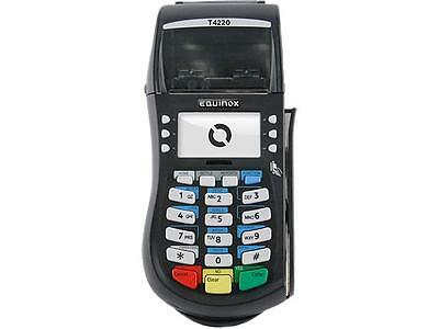 Equinox Credit Card Reader Terminal Hypercom T4220 with Power Supply & Warranty