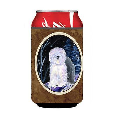 Starry Night Old English Sheepdog Can Or bottle sleeve Hugger
