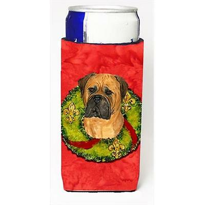 Bullmastiff Cristmas Wreath Michelob Ultra bottle sleeves For Slim Cans