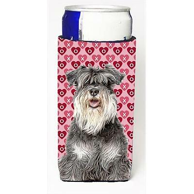 Hearts Love and Valentines Day Schnauzer Michelob Ultra bottle sleeves for sl...