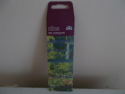 Dmc National Gallery Collection Monet The Water Lily Pond Bookmark Kit Bl1119/71